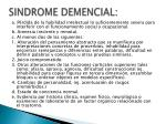 sindrome demencial
