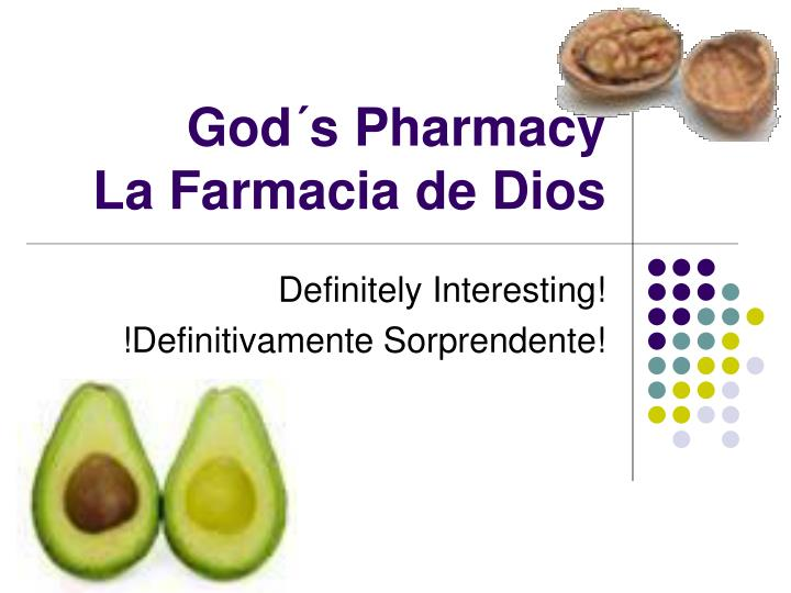 god s pharmacy la farmacia de dios n.