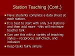 station teaching cont1