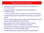 government contd