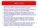 labor policy