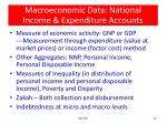 macroeconomic data national income expenditure accounts