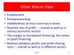 other macro data