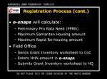 registration process cont