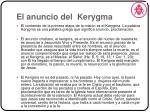 el anuncio del kerygma
