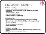etapas de la mision