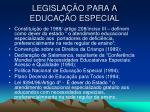 legisla o para a educa o especial