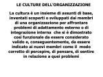 le culture dell organizzazione