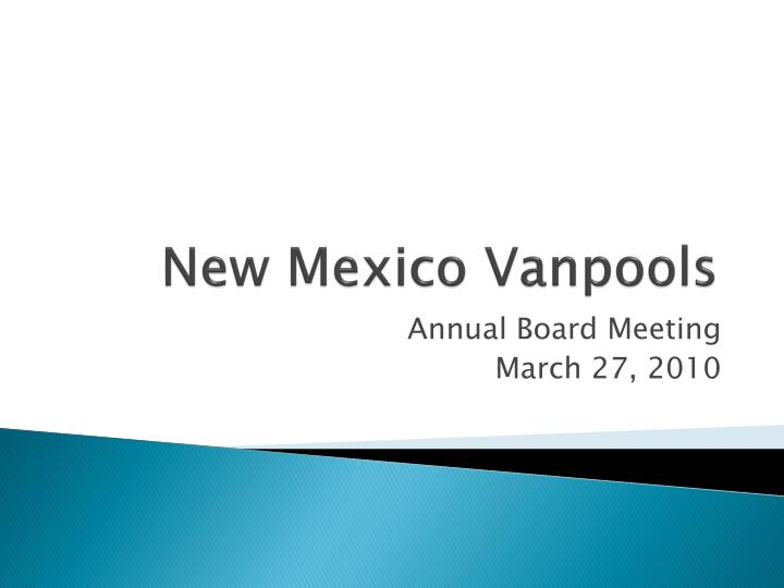 new mexico vanpools n.
