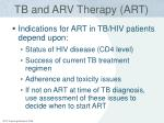 tb and arv therapy art