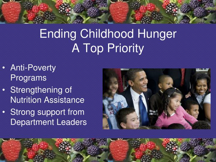 Ending childhood hunger a top priority