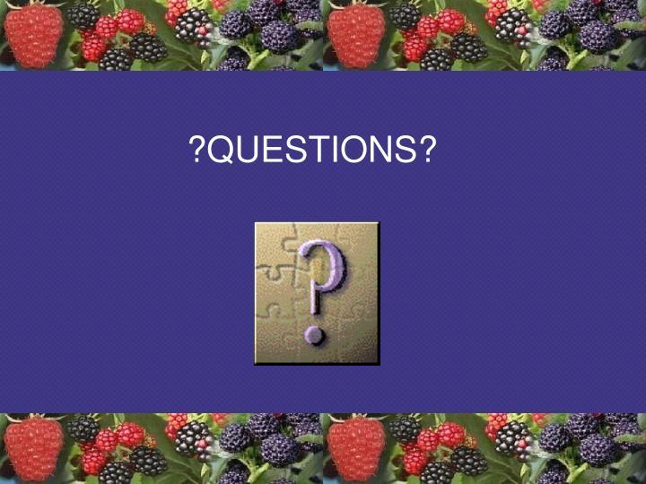 ?QUESTIONS?