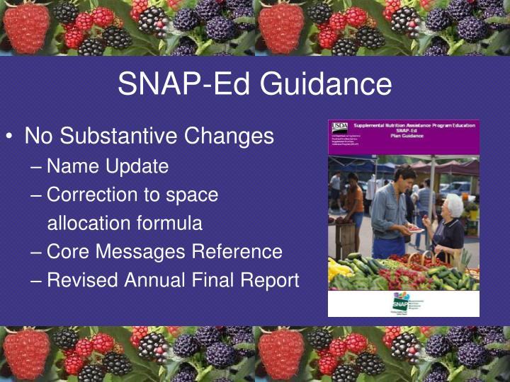 SNAP-Ed Guidance