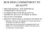 building commitment to quality