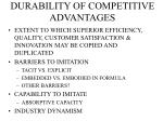 durability of competitive advantages