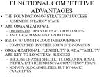functional competitive advantages