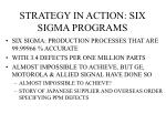 strategy in action six sigma programs