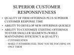 superior customer responsiveness