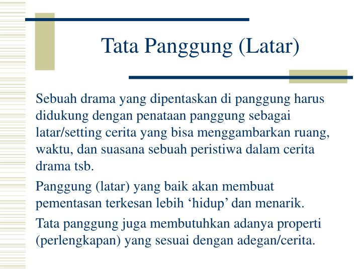 Tata Panggung (Latar)