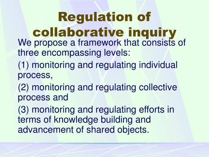 Regulation of collaborative inquiry