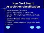 new york heart association classification