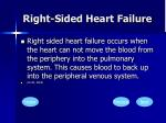 right sided heart failure