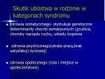 skutki ub stwa w rodzinie w kategoriach syndromu