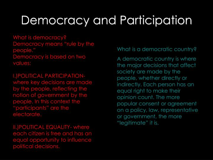 democracy and participation n.