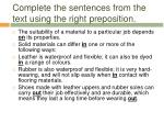 complete the sentences from the text using the right preposition1