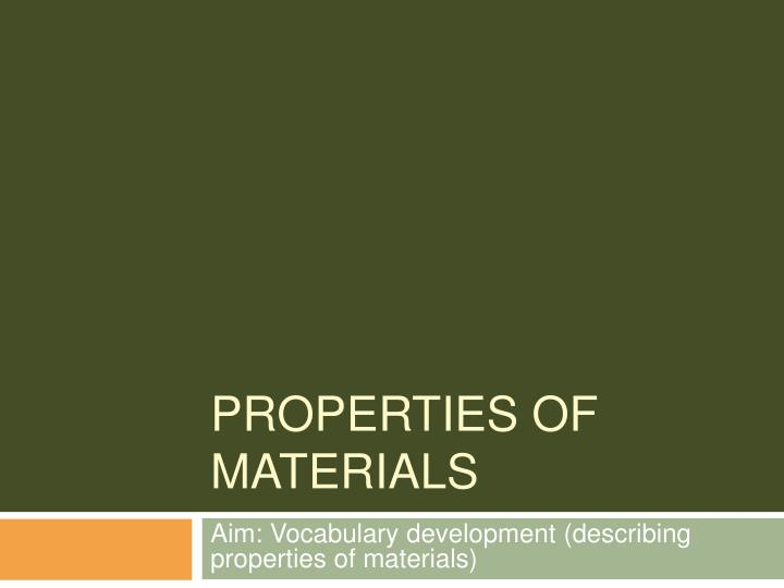 properties of materials n.