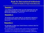 bank for international settlements comit de basilea de supervisi n bancaria