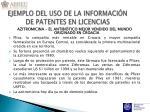 ejemplo del uso de la informaci n de patentes en licencias