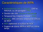 caract ristiques de wpa