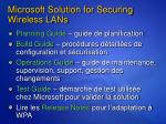 microsoft solution for securing wireless lans1