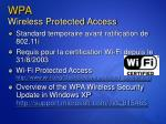 wpa wireless protected access