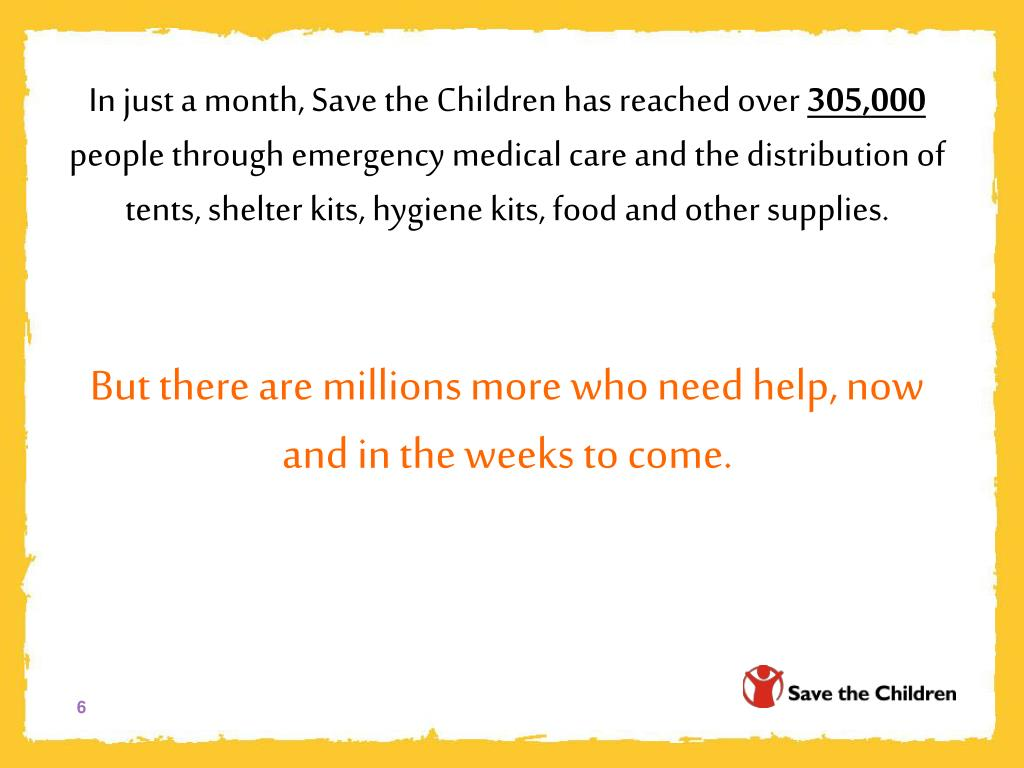 In just a month, Save the Children has reached over