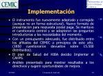 implementaci n