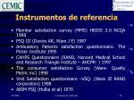 instrumentos de referencia