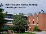 renovating the science building
