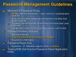 password management guidelines