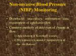 non invasive blood pressure nibp monitoring