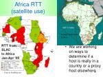 africa rtt satellite use