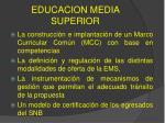 educacion media superior