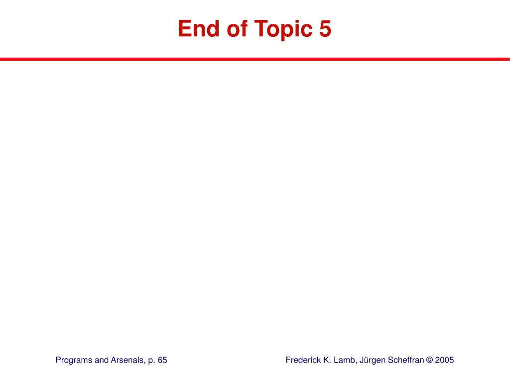 End of Topic 5