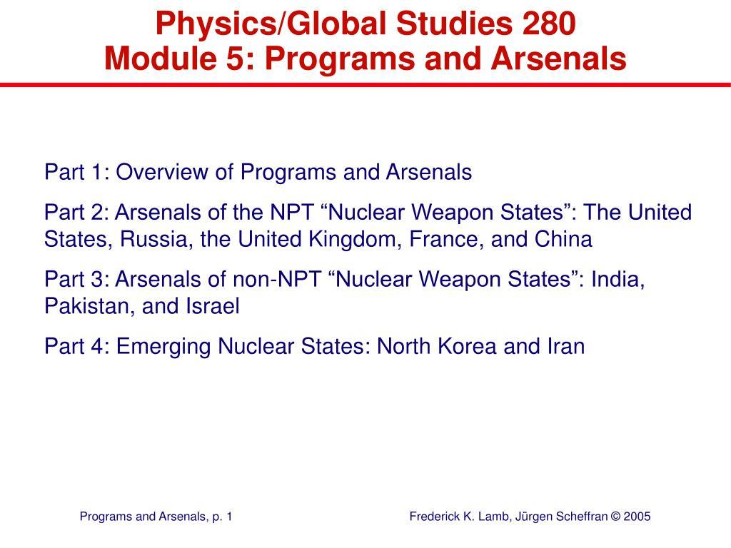 Physics/Global Studies 280