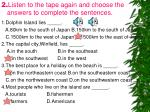 2 listen to the tape again and choose the answers to complete the sentences