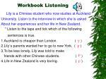 workbook listening