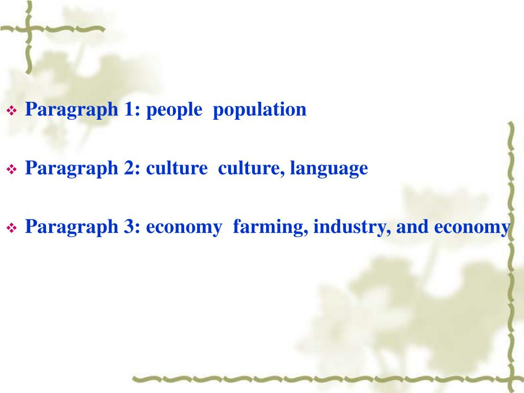 Paragraph 1: people  population