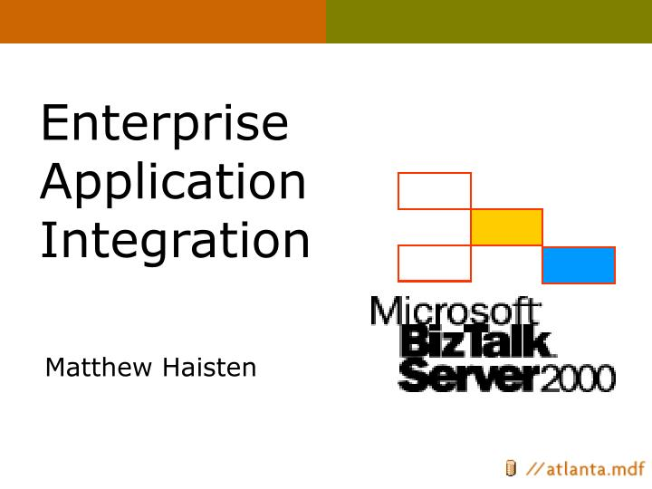 enterprise application integration n.