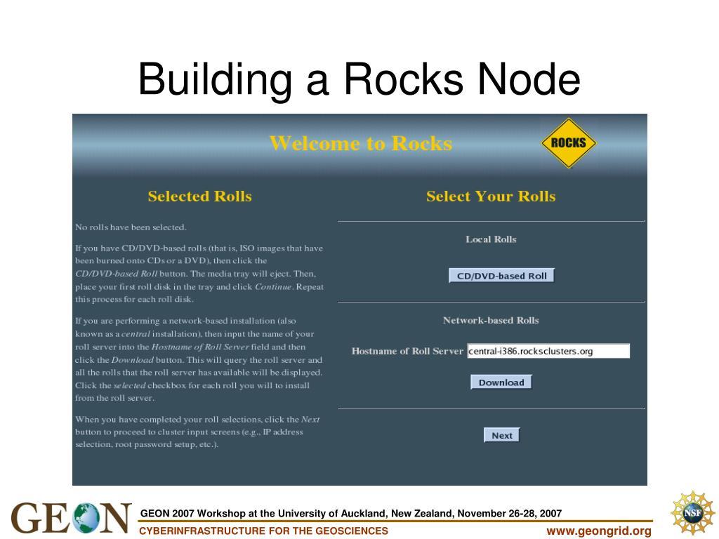 Building a Rocks Node